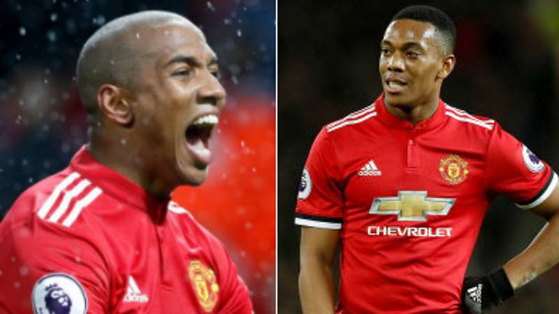 Anthony Martial Sent Ashley Young A Hilarious Message After His 'Goal' Against Brighton