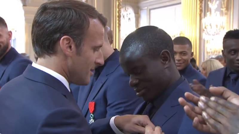 The Moment N'Golo Kante Received His Legion Of Honour Medal