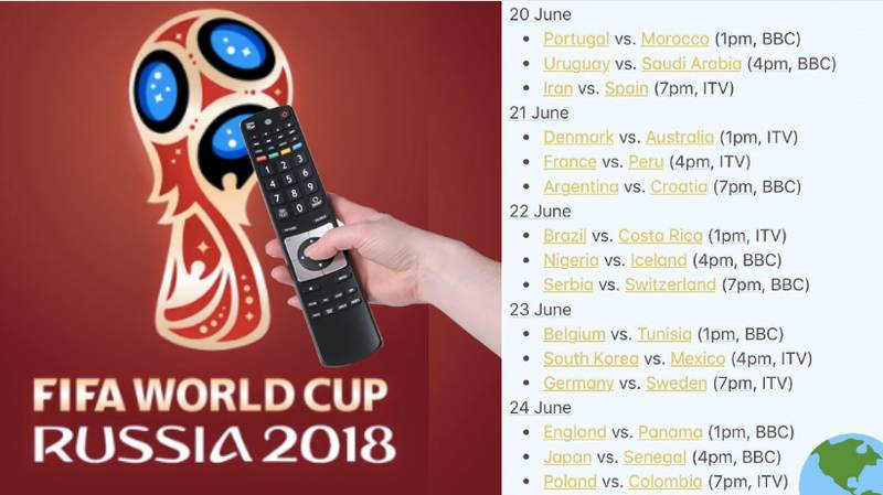 The Full World Cup Schedule Is A Thing Of Beauty, TV Channels And KO Times Confirmed