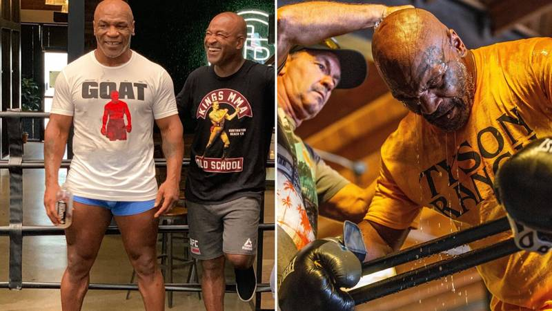 Mike Tyson Shows Off His Huge Muscles During Intense Training Session, Aged 54