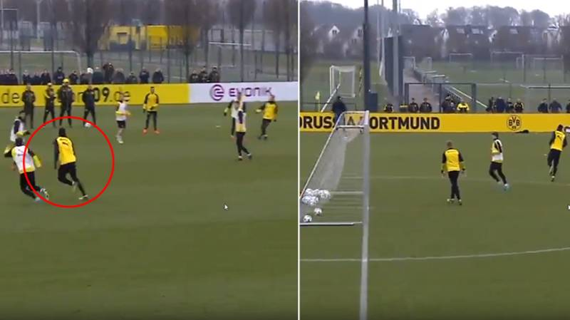 Usain Bolt Scores In Borussia Dortmund Training Whilst On Trial