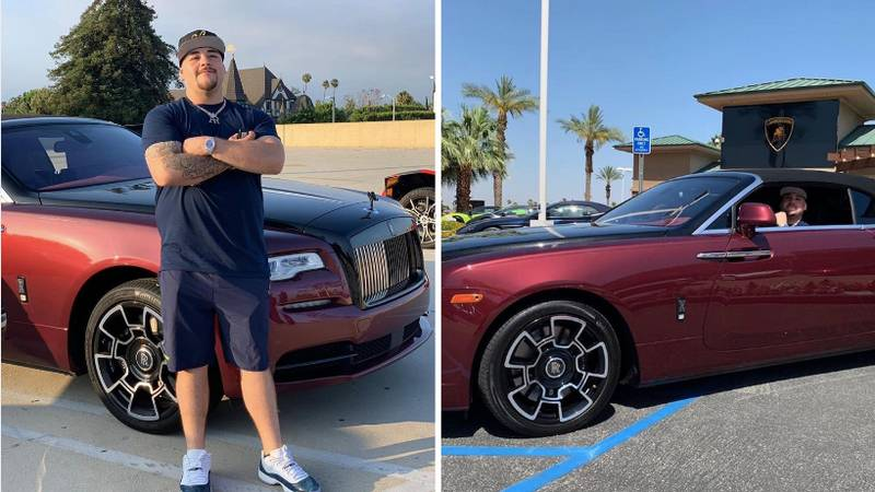 Andy Ruiz Is Enjoying Life In Brand New $450,000 Rolls Royce And He's Earned It