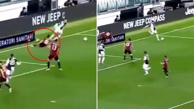 Cristiano Ronaldo Pulls Off Outrageous Rabona After Humiliating AC Milan's Diego Laxalt