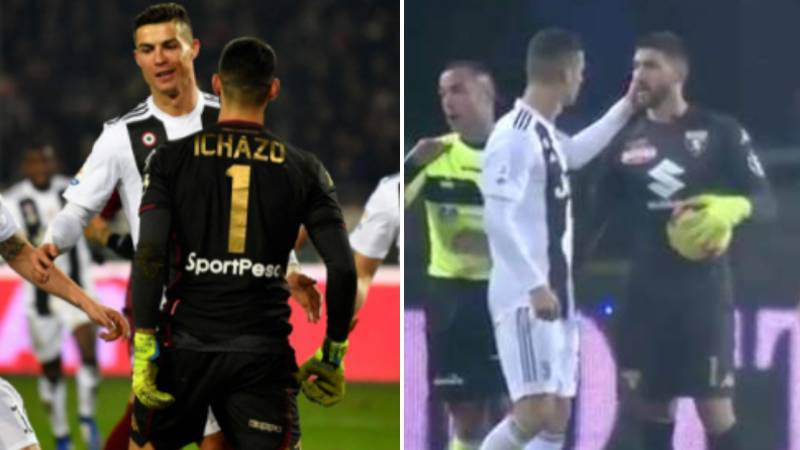New Footage Shows Cristiano Ronaldo And Santiago Ichazo Shortly After Chest Bump