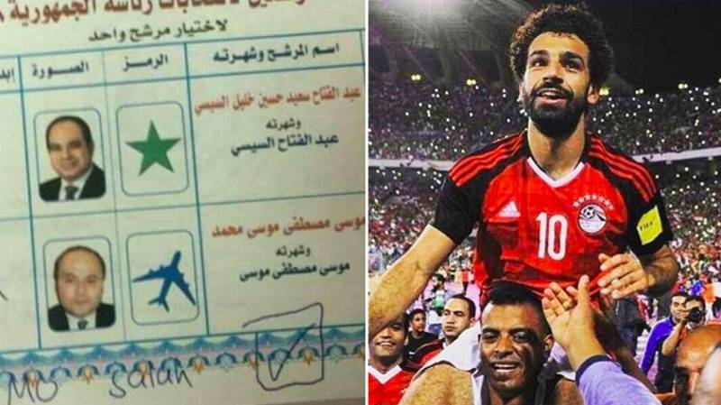 Egyptians Crossed Out Candidates, Voted For Mohamed Salah During The Presidential Elections