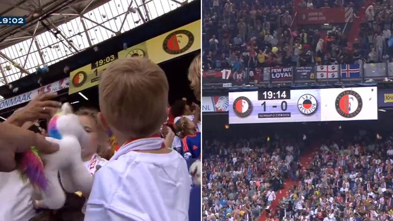 Excelsior Fans Throw Cuddly Toys To The Children Below In Heartwarming Gesture