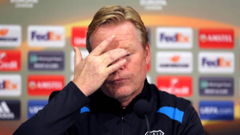 Everton Player 'Likes' Shocking Comments About Manager Ronald Koeman On Instagram