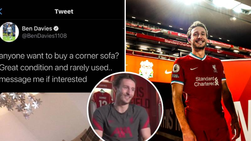 Liverpool New Boy Ben Davies Once Sold A Sofa On Twitter