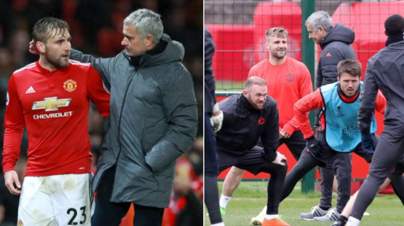 Jose Mourinho Had 'One Final Row' With Luke Shaw And It's Just Petty