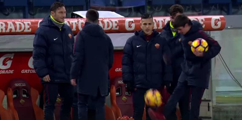 WATCH: Francesco Totti Gave Roma Ball-Boys Some Tips On Their Kick-Ups