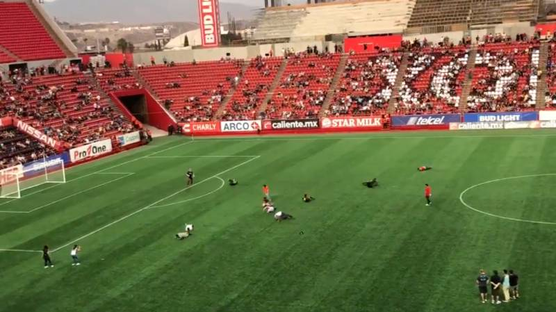 Mexican Team Have Neymar Diving Challenge For Half Time Entertainment
