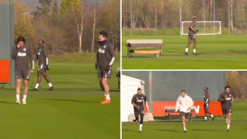 Paul Pogba Spotted Training On His Own Away From Manchester United Teammates