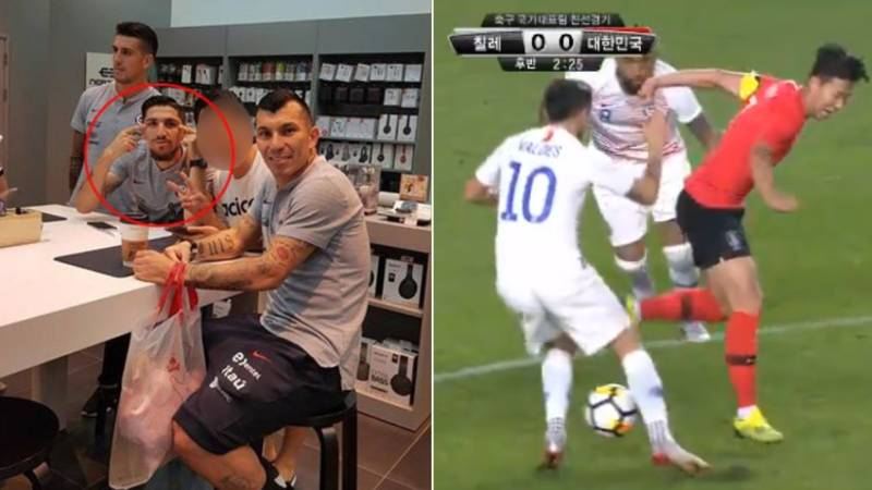 Son Humiliates Chile Midfielder Diego Valdes, Who Made Racist Gesture Before Match
