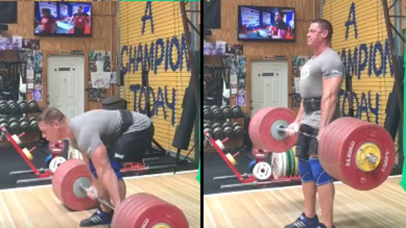 John Cena Posts Clip Of Weights Deadlifting Themselves