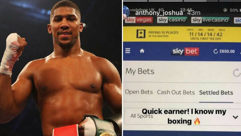 Anthony Joshua Reveals The Bet He Played On Dillian Whyte Last Night