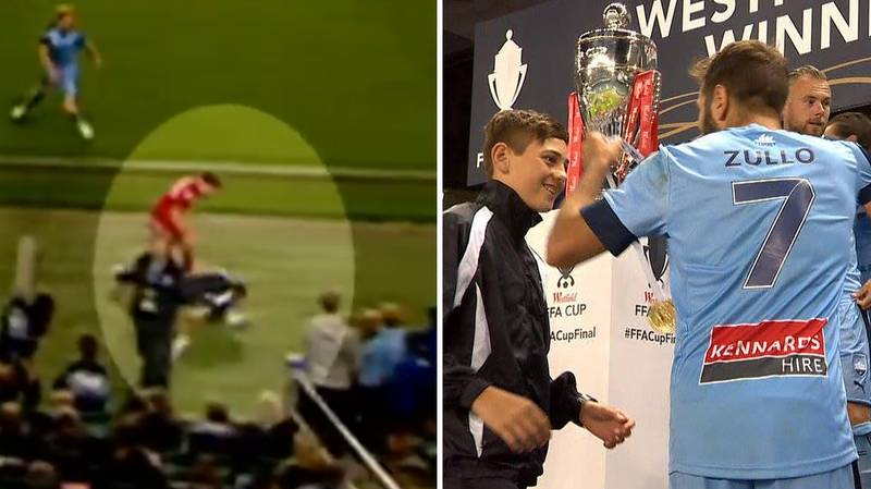 Ball-Boy Tackled By Adelaide United Player In Extra-Time, Gets Sent Off And Sparks Mass Brawl