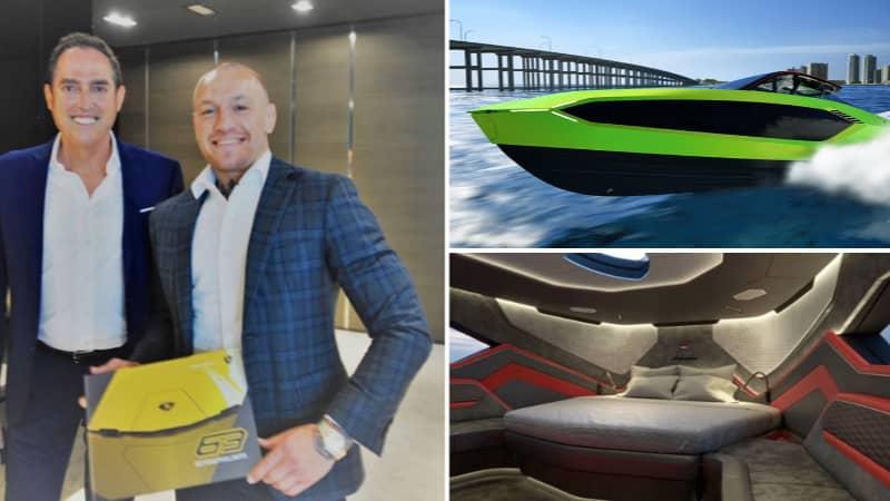 Take A Look Inside Conor McGregor's New £2.7 Million Luxury Lamborghini Yacht