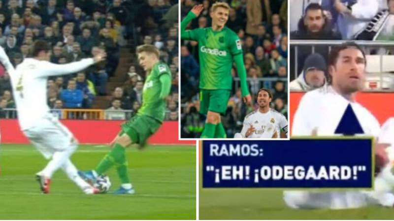 Sergio Ramos Swears At Martin Odegaard And 'Calls His Mother A Wh*re' After He Stamps On Him