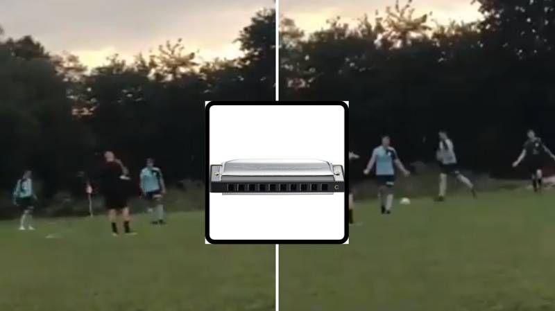 Sunday League Ref Forgot His Whistle So Used A Harmonica Instead