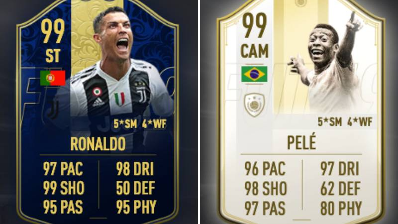 Pelé's 'Prime Icon Moments' Card Costs Double Cristiano Ronaldo's Team Of The Year Card