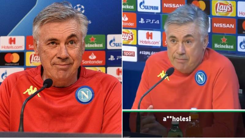 """Carlo Ancelotti: """"If We Don't Qualify, We Are A**holes"""""""