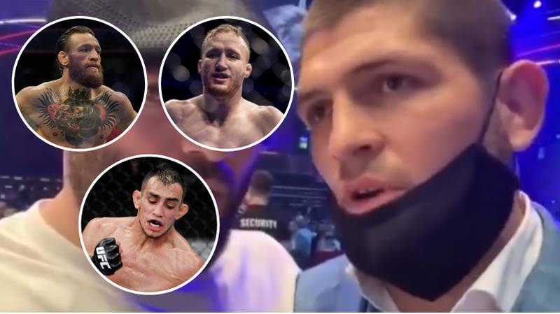 Khabib Nurmagomedov's Damning Response When Asked Who's The Most Dangerous Between McGregor, Gaethje And Ferguson