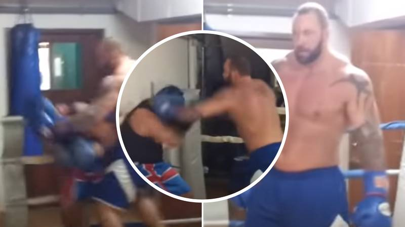 Footage Of The Mountain Showing His Boxing Skills Emerges And He Looks Frightening