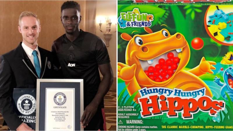 Manchester United Youngster Axel Tuanzebe Breaks Hungry Hippos Guinness World Record