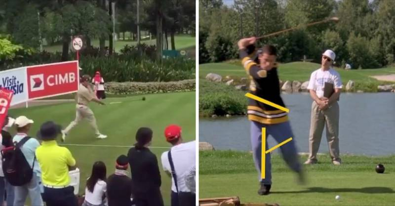 Pro Golfer Pulled Off Happy Gilmore-Style Swing At PGA Event And It Travelled Miles