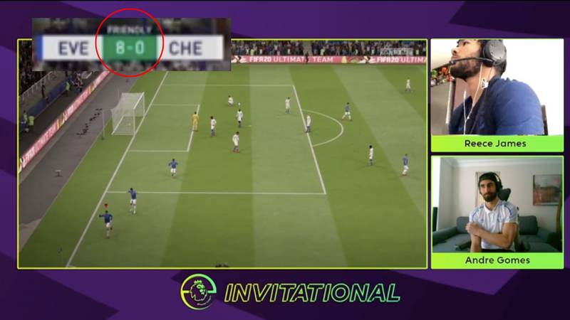 Everton's Andre Gomes Destroys Chelsea Youngster Reece James 8-0 At FIFA And It's Difficult To Watch
