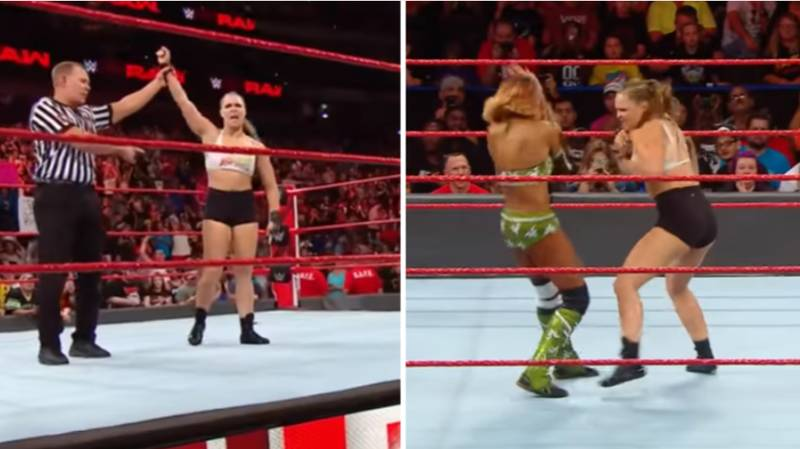 Ronda Rousey Makes Her Televised WWE Debut In Destructive Win