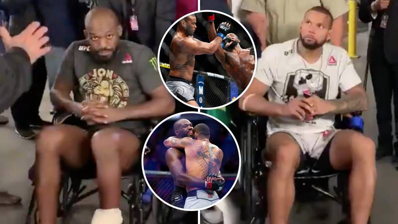 Jon Jones And Thiago Santos Both Left UFC 239 In Wheelchairs After Their Epic Clash