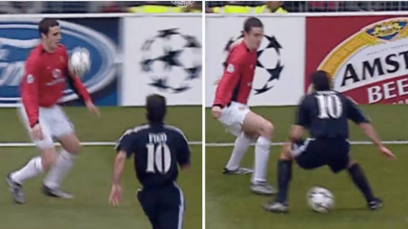 17 Years Ago, John O'Shea Nutmegged Luis Figo And It's Still One Of Football's Greatest Moments
