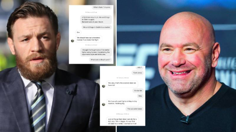 Conor McGregor Shares His Private Instagram Messages With UFC President Dana White