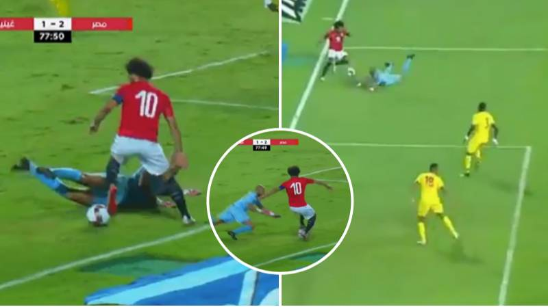 Mo Salah Sits Down Goalkeeper Twice In Seconds For Egypt