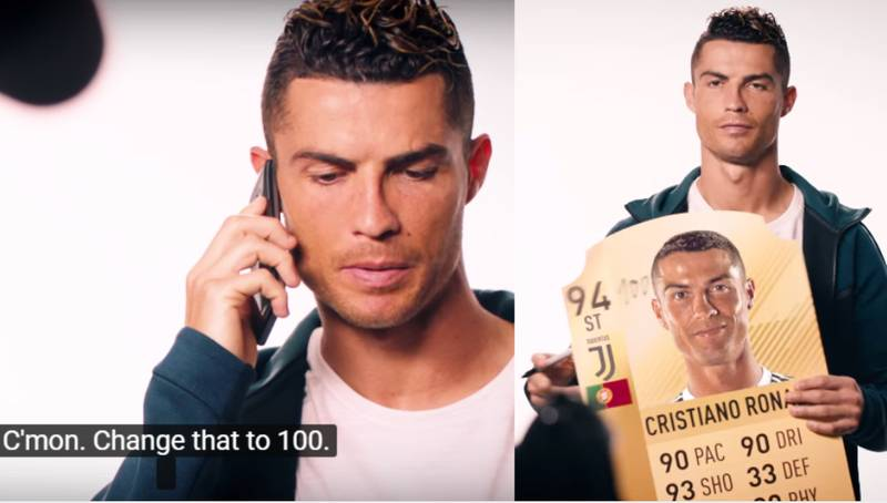 Cristiano Ronaldo Genuinely Wanted To Change His FIFA 19 Rating To 100