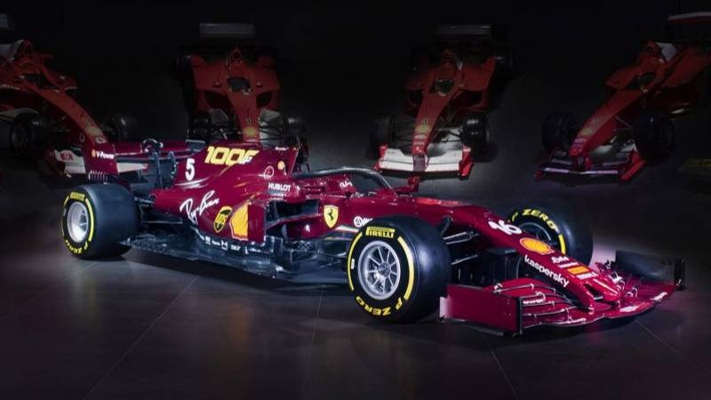 Ferrari Have Just Unveiled A Retro Burgundy Car To Mark Their 1000th F1 Grand Prix