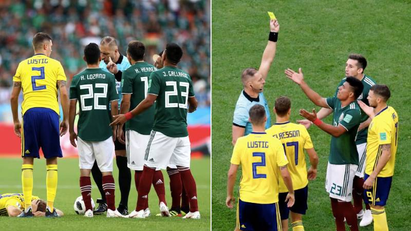 Mexico's Jesus Gallardo Receives The Fastest Yellow Card In World Cup History