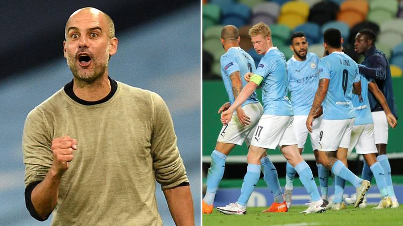 Manchester City Player's Wife Calls Out Pep Guardiola Following Lyon Defeat