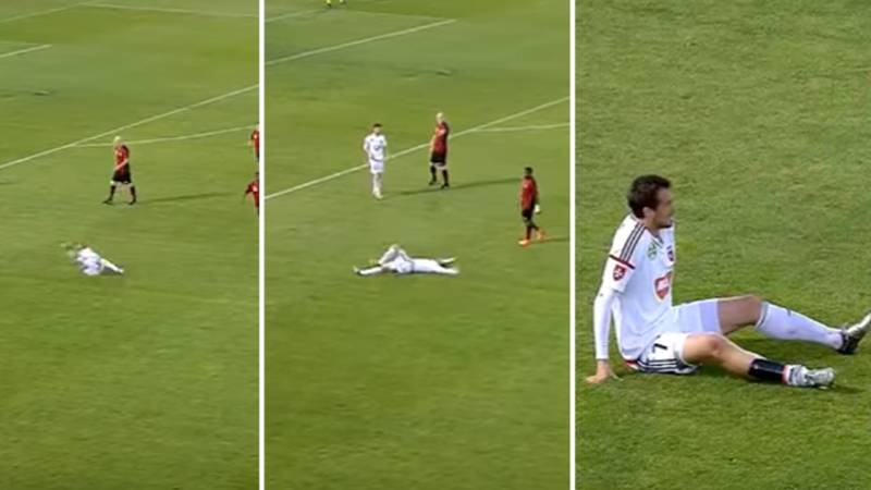 WATCH: This Is Officially The Worst Dive In Football History