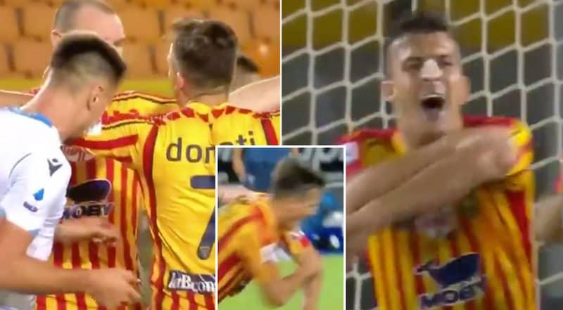 Lazio Defender Patric Sent Off For Biting Guilo Donati