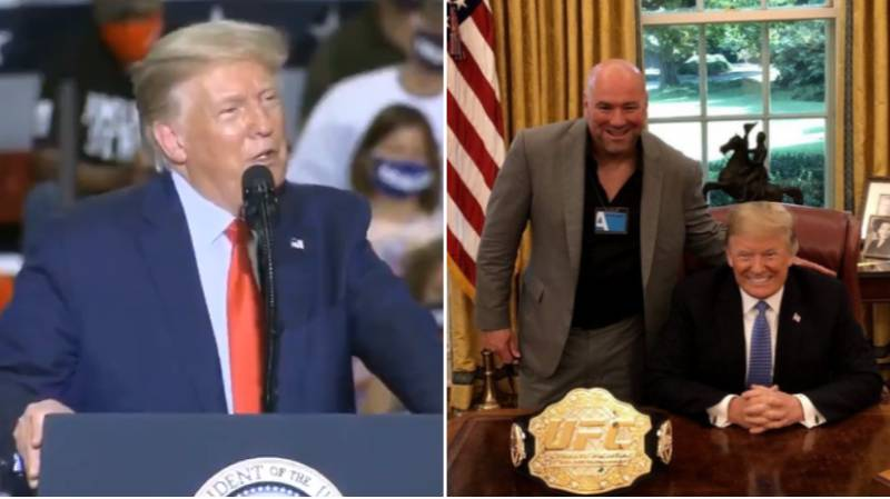 US President Donald Trump Names The Best Fighter In The UFC As He Praises Dana White