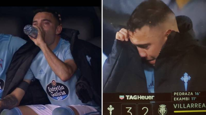 Iago Aspas In Tears Of Joy After Scoring Twice To Give Celta Vigo Hope Of Avoiding Relegation