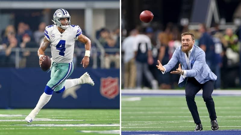 Conor McGregor's Hilarious Response To His Terrible Throw At Dallas Cowboys' Match