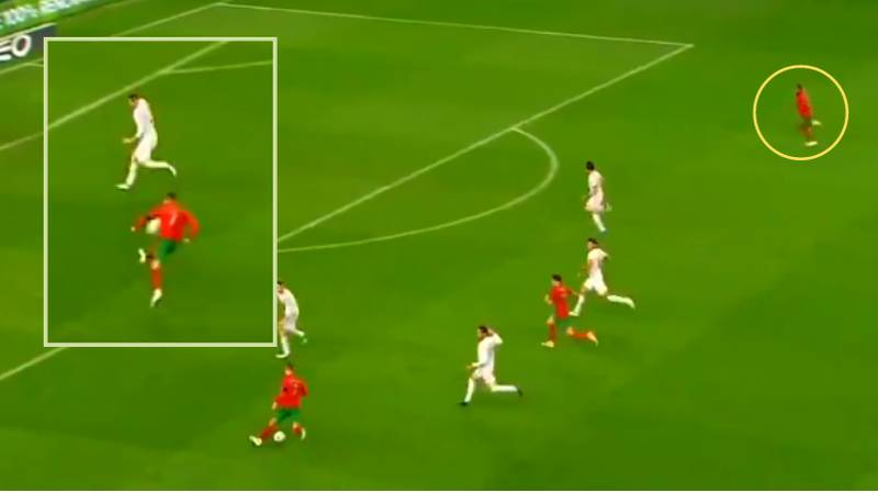 Cristiano Ronaldo Produced An Outrageous Pass For Portugal Against Spain