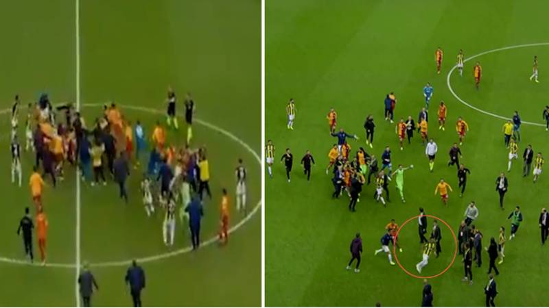 Istanbul Derby Descends Into Chaos With 30 Man Brawl, Three Players Sent Off