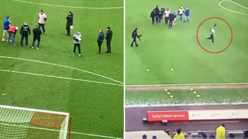 Newcastle Fan Wins Crossbar Challenge, Celebrates Like Alan Shearer And Nutmegs Steward