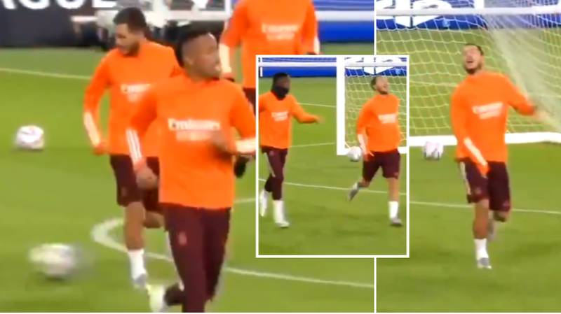 Eden Hazard Hilariously Pretends To Be Injured After Kicking A Ball In Training