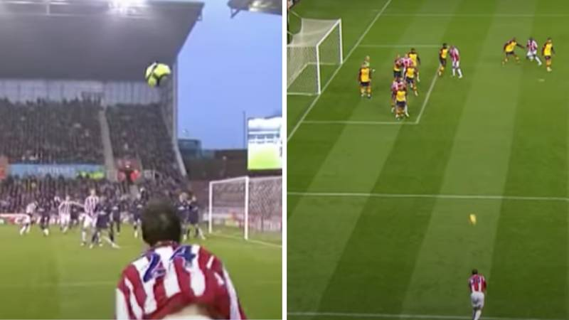 A Compilation Of Every Stoke City Goal Scored From Rory Delap's 'Cheat Code' Throw-In