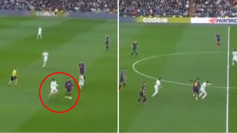 Lionel Messi 'Takes The Dog For A Walk' While Gareth Bale Desperately Tries To Tackle